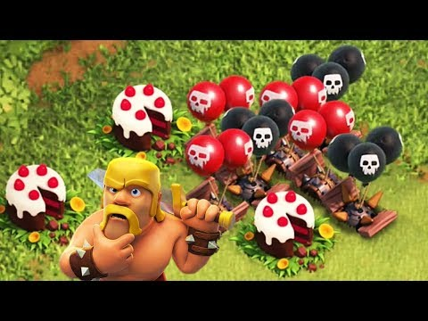 FUNNY BIRTHDAY CAKE TROLL BASE | Clash of Clans | 5th Anniversary Celebration