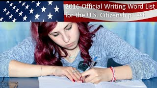 2019-2020 OFFICIAL US CITIZENSHIP WRITING VOCABULARY WORDS AND PRACTICE SENTENCES