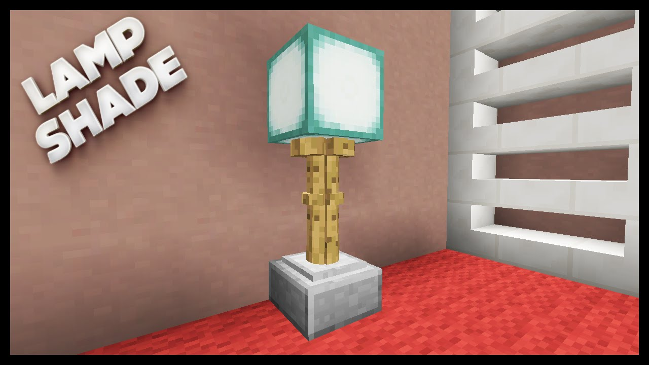 Minecraft - How To Make A Lamp - YouTube