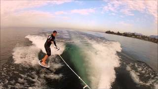 Fabien wakesurf Lac Leman 16 degrés !! Motivation !!