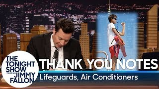 Thank You Notes: Lifeguards, Air Conditioners