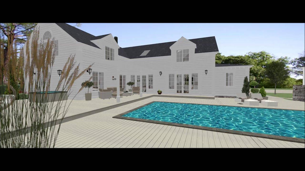 New england hus i nykvarn youtube for Pool design new england