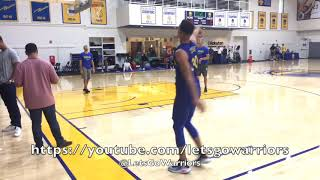 Steph Curry shooting around at Golden State Warriors practice, 2 days before New Orleans Pelicans