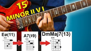 15 Minor II V I - Beautiful Jazz Chords You Need To Know