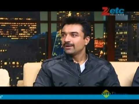Mahesh Bhatt, Ajaz Khan & Hasnain with Komal Nahta