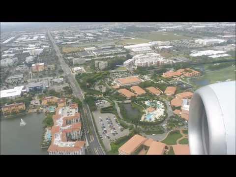 Flight  from Newark, New Jersey to Miami, Florida, April 22, 2017