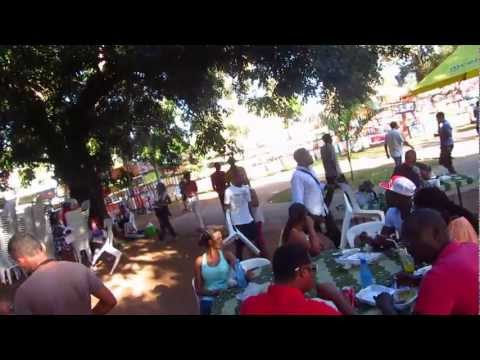 Sunday afternoon at the artist fair in Maputo, Mozambique
