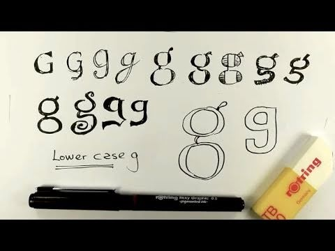 How to draw lower case