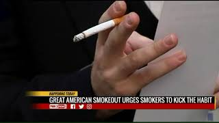The great american smokeout challenges smokers to stop smoking
