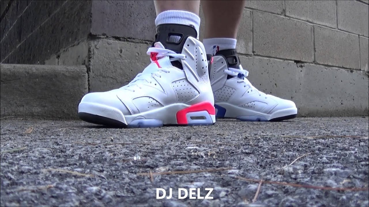 ba0cbfb770813f Air Jordan 6 Infrared VS Sport Blue Sneaker  PickOne With  DjDelz ...