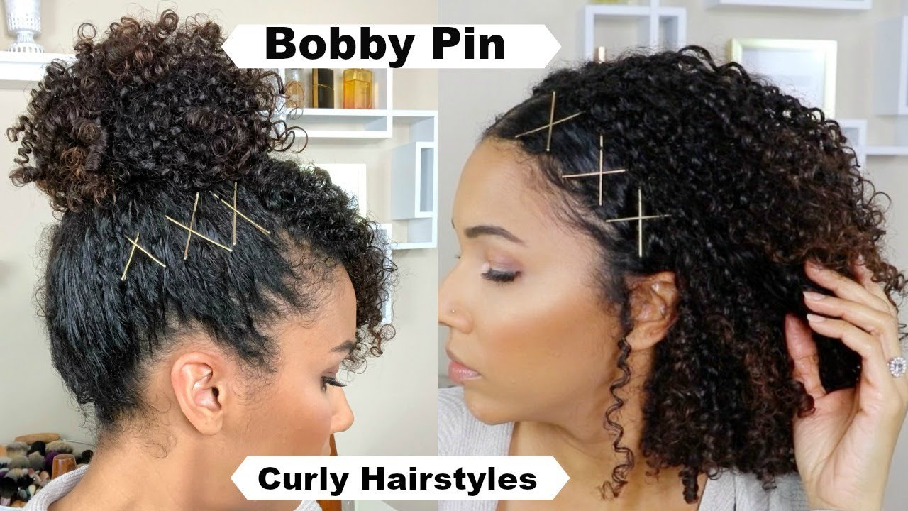 Spice Up Curly Hairstyles With Bobby Pins