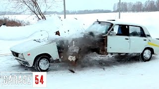 ТУНДРА vs ВАЗ 2105 - жигули ПОРВАЛО...
