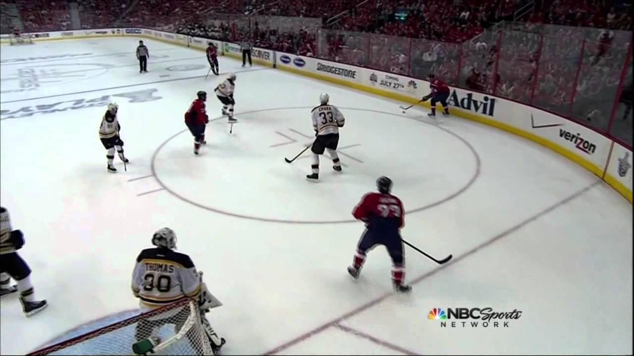 Alexander Semin lasershot goal  Boston Bruins vs Washington Capitals  4/19/12 NHL Hockey