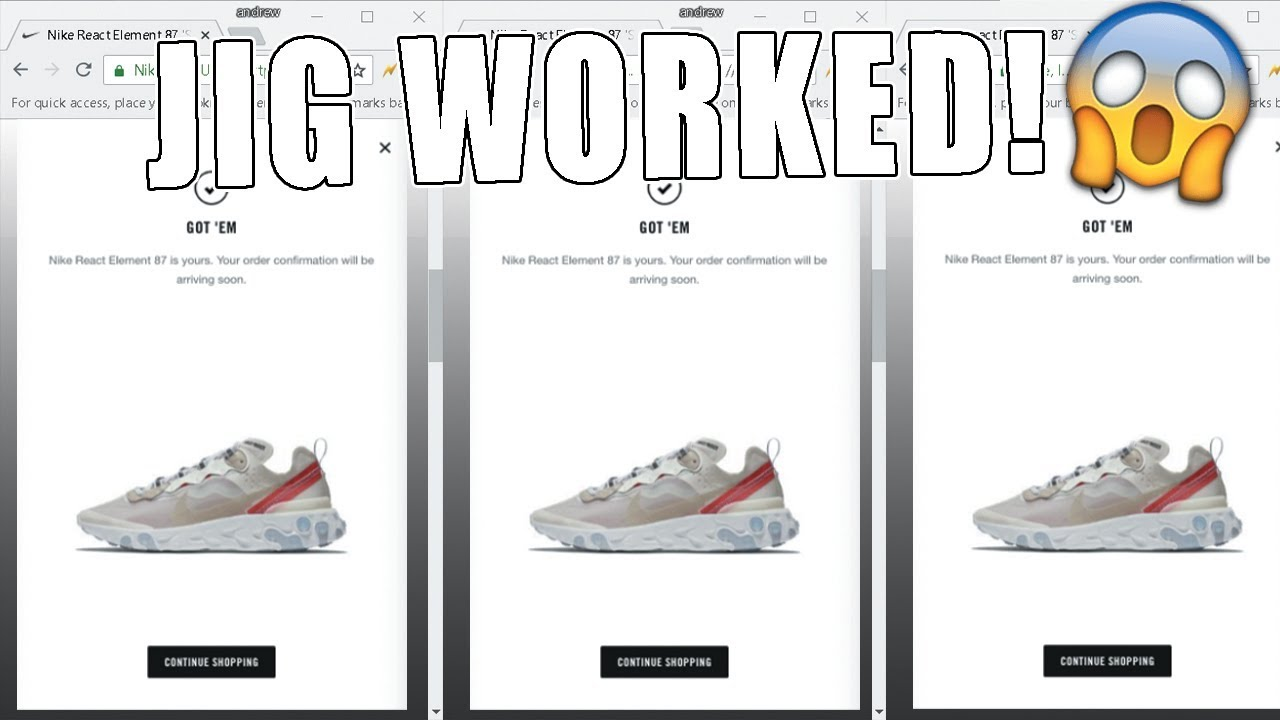d578d951dc65 Nike React Element 87 SaiL Release Aftermath (JIG WORKED)! - YouTube