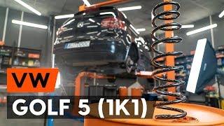 Montaż Zawieszenie tył lewy prawy VW GOLF V (1K1): darmowe wideo