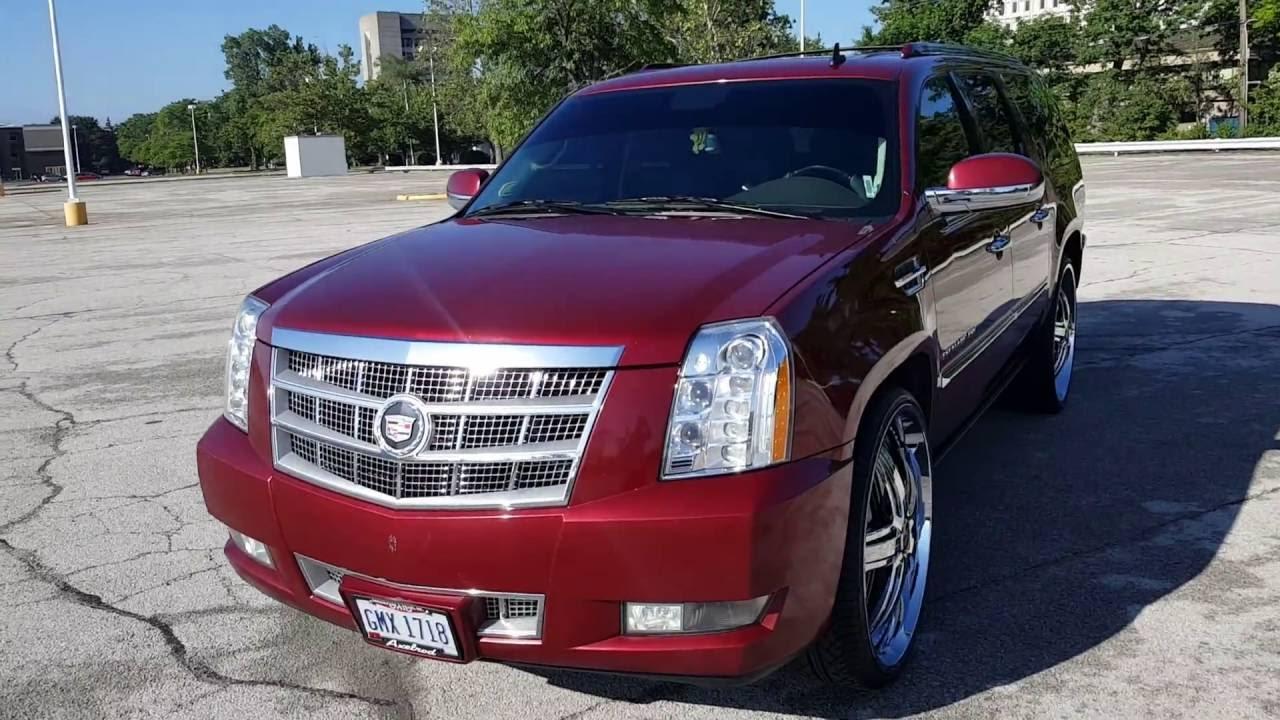 Cadillac Escalade Platinum >> Cadillac Escalade Esv Platinum on 28s Dub Floaters - YouTube