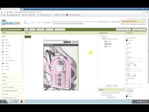 Android Tutorial - How to create Radio Streaming App with App Inventor - Part 1