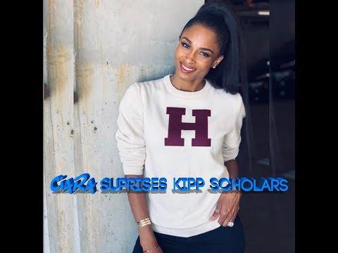 Ciara Surprises Scholars at KIPP Vida Charter School