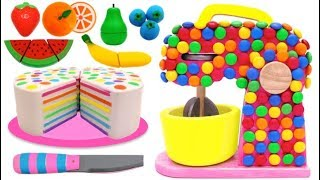 Squishy Rainbow Cake and Candy Mixer Playset