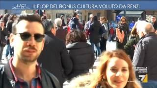 Il flop del bonus cultura voluto da Renzi