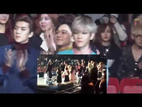 exo reaction to you dating bts