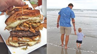 We Found The Coolest Secret Bar In New Smyrna Beach Florida & Ate The Most Ridiculous Burger!