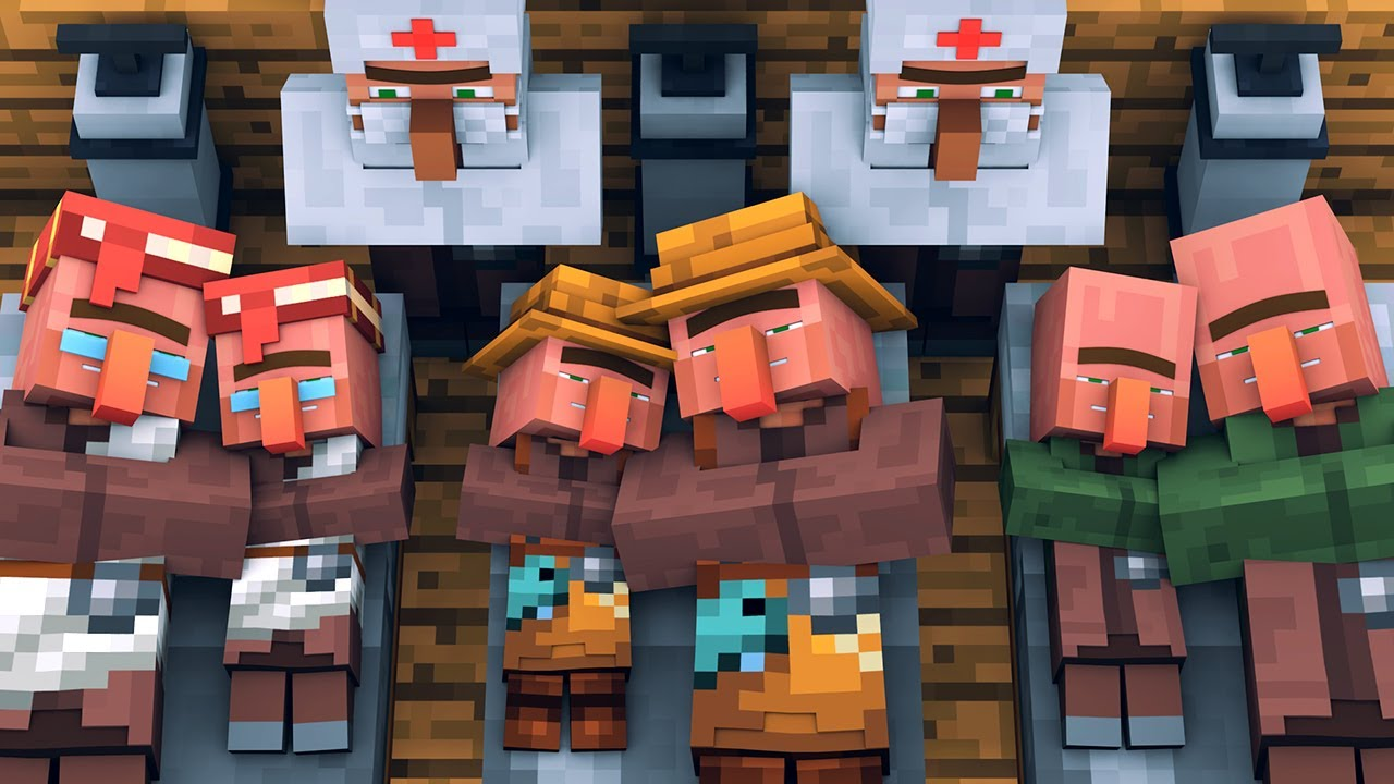 Villager vs Pillager Life [COVID-19]: FULL ANIMATION - Minecraft Animation