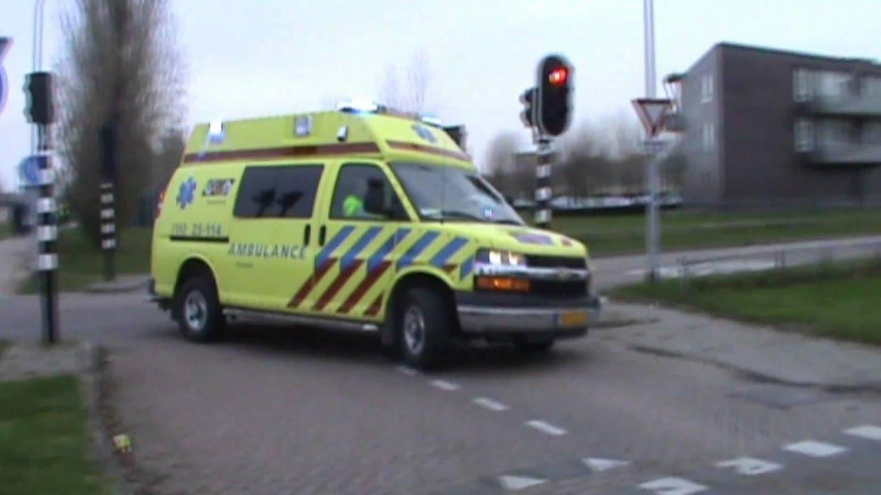 A1 Ambulance Ggd Flevoland 25 114 Vanaf De Post In Almere Youtube