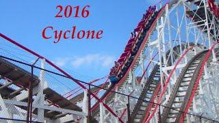 Cyclone Historical Roller Coaster At Coney Island Brooklyn, NY - NYC 2016 HD