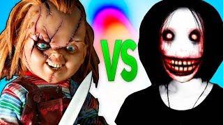 ЧАКИ VS ДЖЕФФ УБИЙЦА | СУПЕР РЭП БИТВА | Chucky Doll movie ПРОТИВ Jeff The Killer Creeepypasta