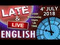 Listen To English - Late and Live from England - Football - Moths - Heat - Separate Taxis