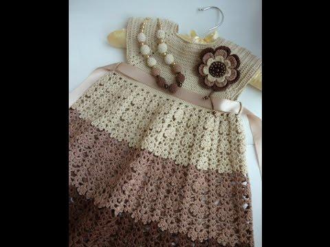 Crochet Patterns| for free |crochet baby dress| 6
