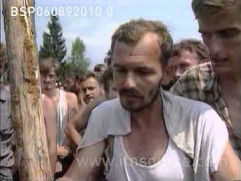 Bosnia and Herzegovina death camps for muslims OMARSKA/TRNOPOLJE 6.8.92
