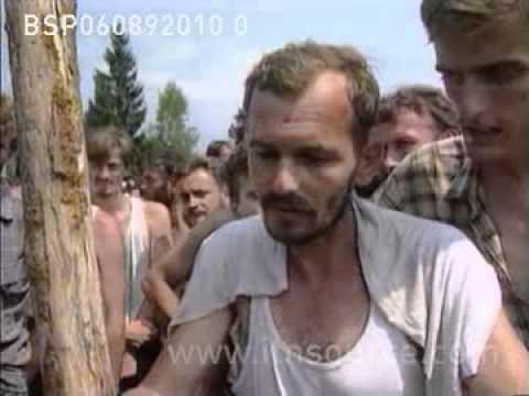 Bosnia and Herzegovina death camps for muslims OMARSKA/TRNOPOLJE 6.8.92
