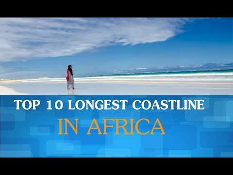 Top 10 longest coastline in Africa