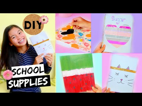 Back to School: DIY School Supplies 2016!!! Easy, Quick and Affordable!