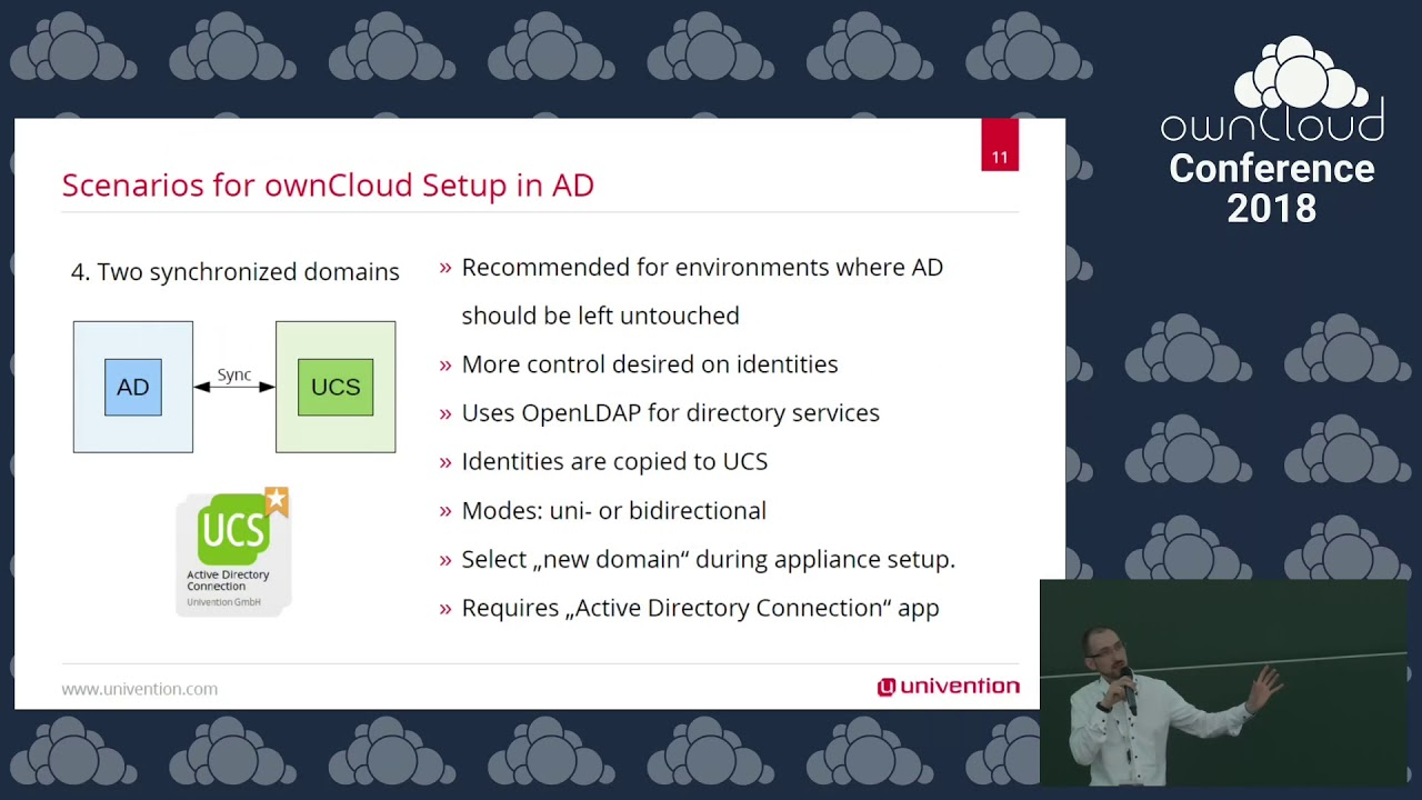 ownCloud conference 2018 Easy and maintainable ownCloud setups in Active  Directory environments
