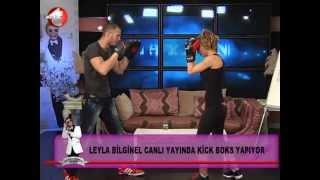 Ünlü Oyuncu Leyla Bilginel İlk Defa Canlı Yayında Kick Boks yaptı Kanal T