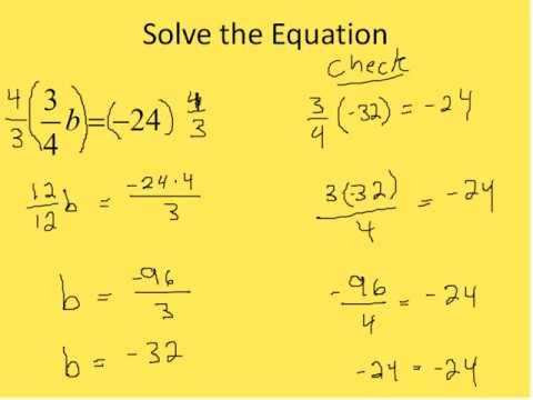 Solving Fraction Equations (Simplifying Math) - YouTube