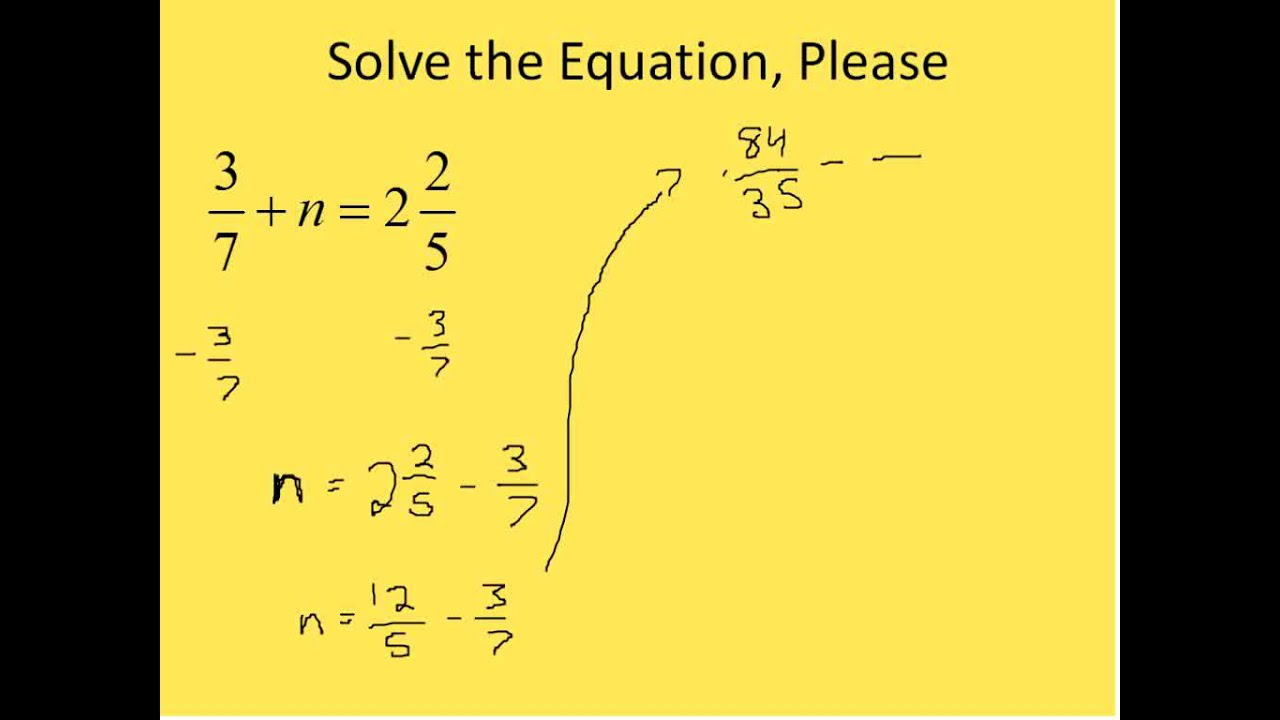 How To Solve Variable Equations With Fractions