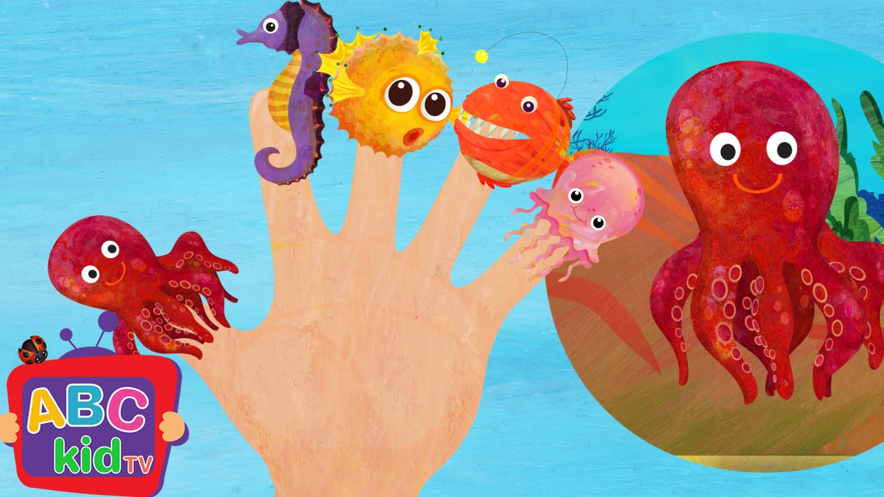 Finger Family - Sea Animals | CoCoMelon Nursery Rhymes & Kids Songs