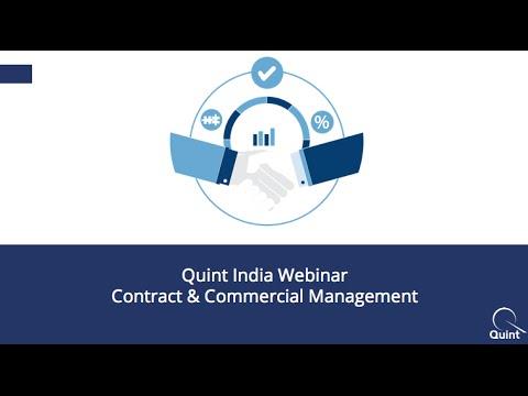 Webinar: Contract & Commercial Management