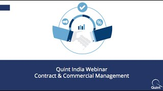 Webinar: Contract & Commercial Management