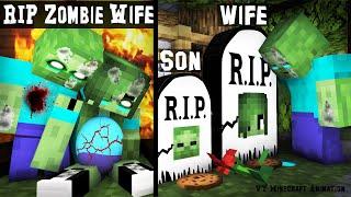 ZOMBIE FAMILY SAD LIFE 45 | RIP Wife and Son : VT Minecraft Animation