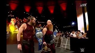 WWE GREATEST ROYAL RUMBLE 2018 The Bludgeon Brothers vs. The Usos -SmackDown Tag Team Title Match