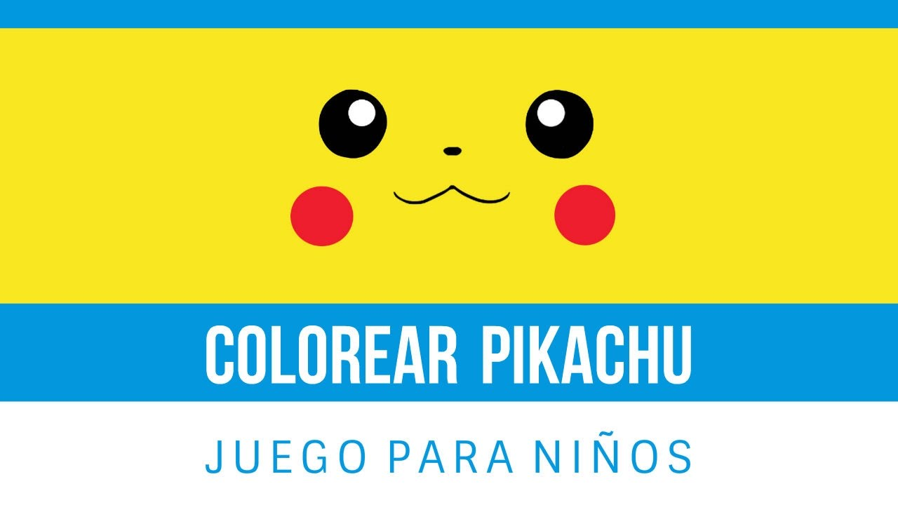 pikachu pokemon juego de colorear online gratis para ni os youtube. Black Bedroom Furniture Sets. Home Design Ideas