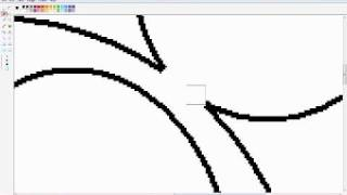HOW TO DRAW MICKEY MOUSE USING PAINT IN THE COMPUTER!!