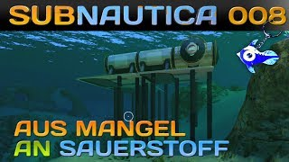 SUBNAUTICA [008] [Aus Mangel an Sauerstoff] Let's Play Gameplay Deutsch German thumbnail