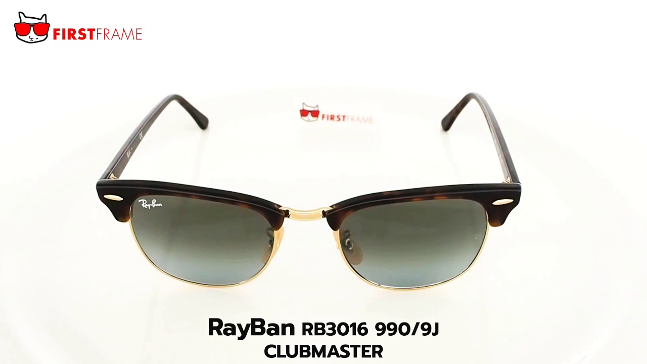36000a32a658f RayBan RB3016 990 9J   CLUBMASTER - YouTube
