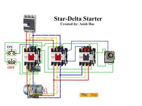 3 phase dol starter control wiring diagram of a car horn how to star delta works - youtube